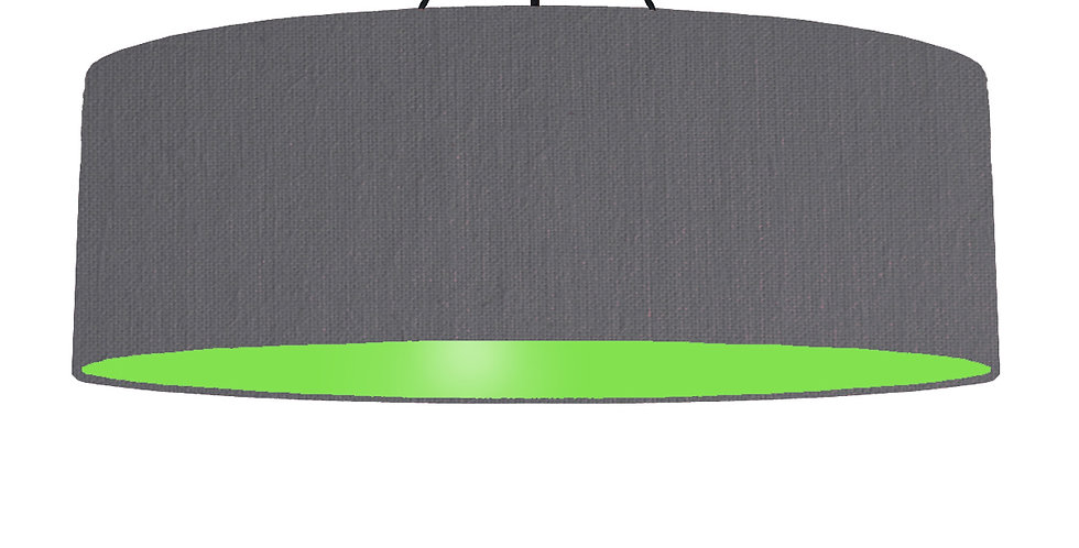 Dark Grey & Lime Green Lampshade - 100cm Wide