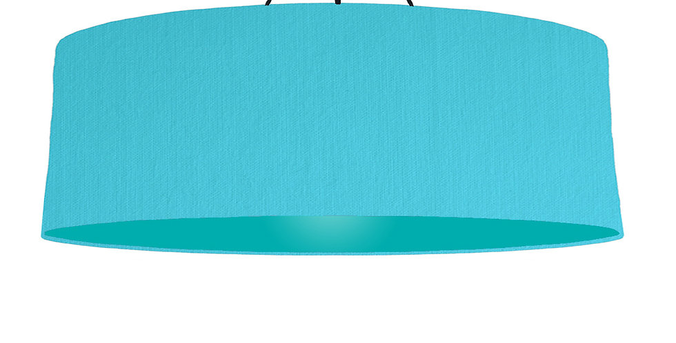 Turquoise & Turquoise Lampshade - 100cm Wide