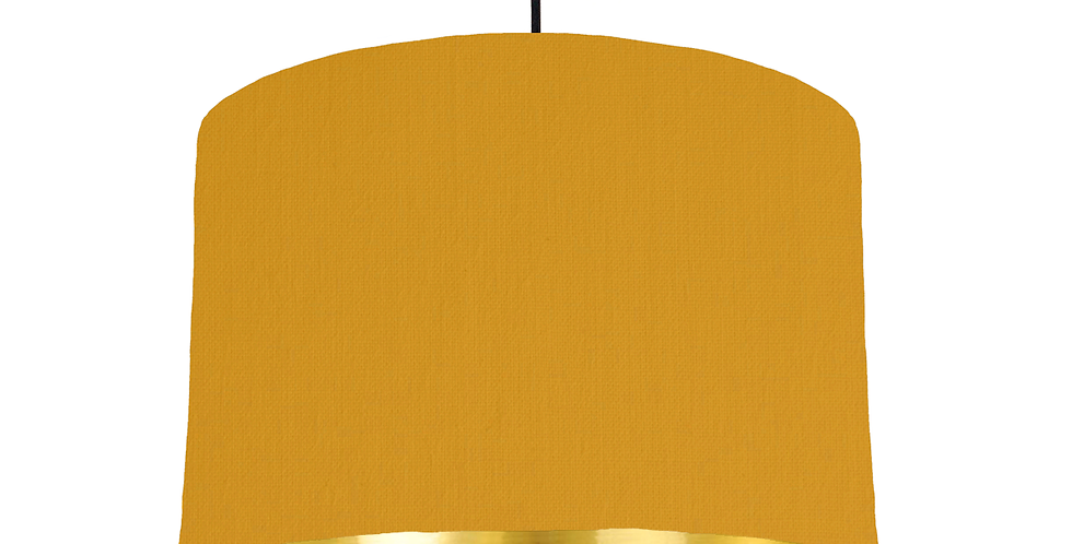Mustard & Gold Mirrored Lampshade - 30cm Wide