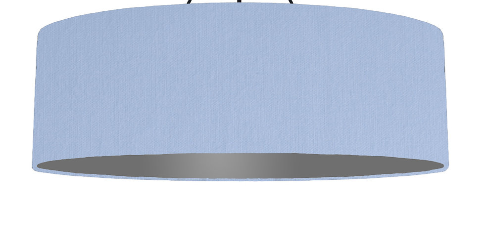 Sky Blue & Dark Grey Lampshade - 100cm Wide