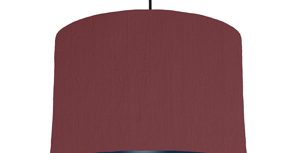 Wine Red & Navy Lampshade - 30cm Wide