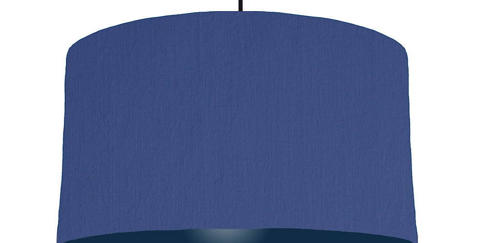 Royal Blue & Navy Lampshade - 50cm Wide