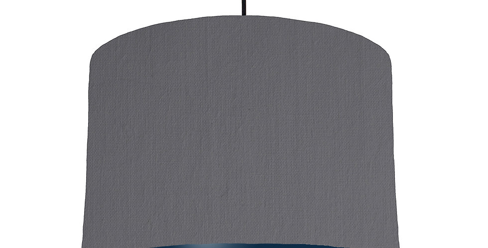Dark Grey & Navy Lampshade - 30cm Wide