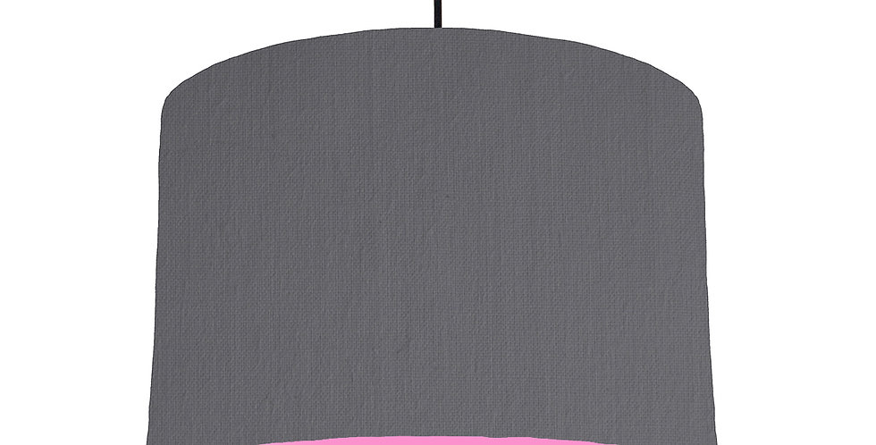 Dark Grey & Pink Lampshade - 30cm Wide