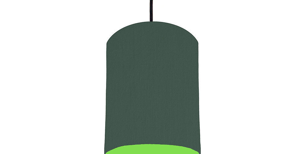 Bottle Green & Lime Green Lampshade - 15cm Wide