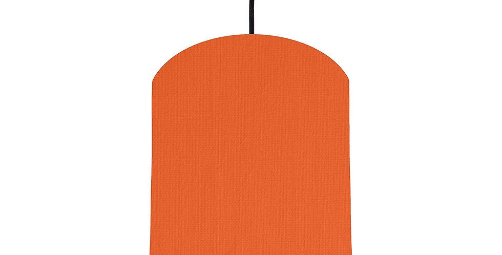 Orange & Brushed Silver Lampshade - 20cm Wide