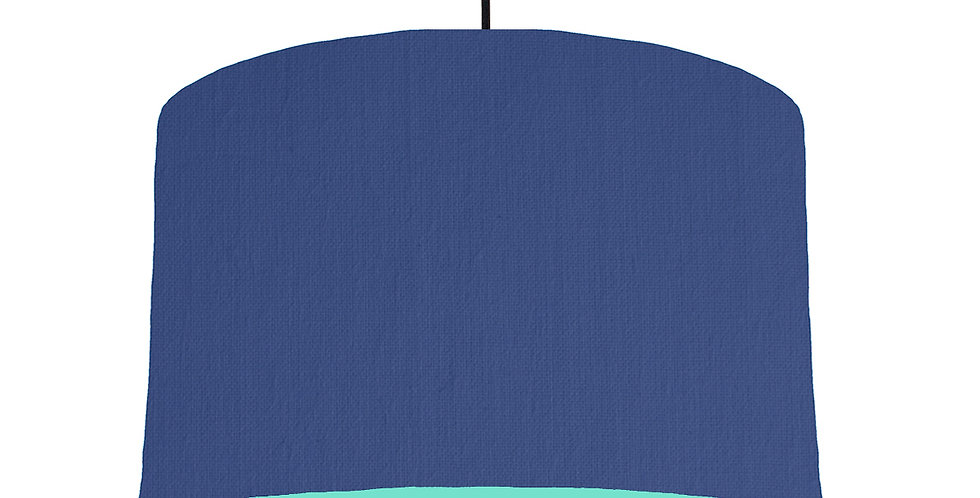 Royal Blue & Mint Lampshade - 40cm Wide