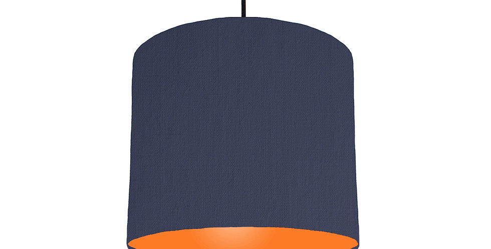 Navy Blue & Orange Lampshade - 25cm Wide