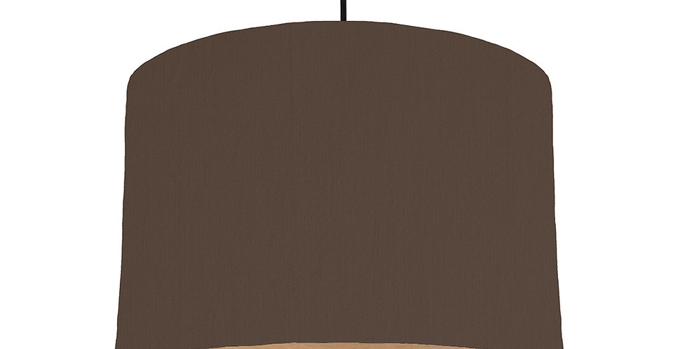 Brown & Wood Lined Lampshade - 30cm Wide
