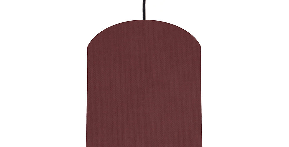 Wine Red & Lime Green Lampshade - 20cm Wide