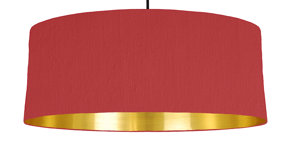 Red & Gold Mirrored Lampshade - 70cm Wide