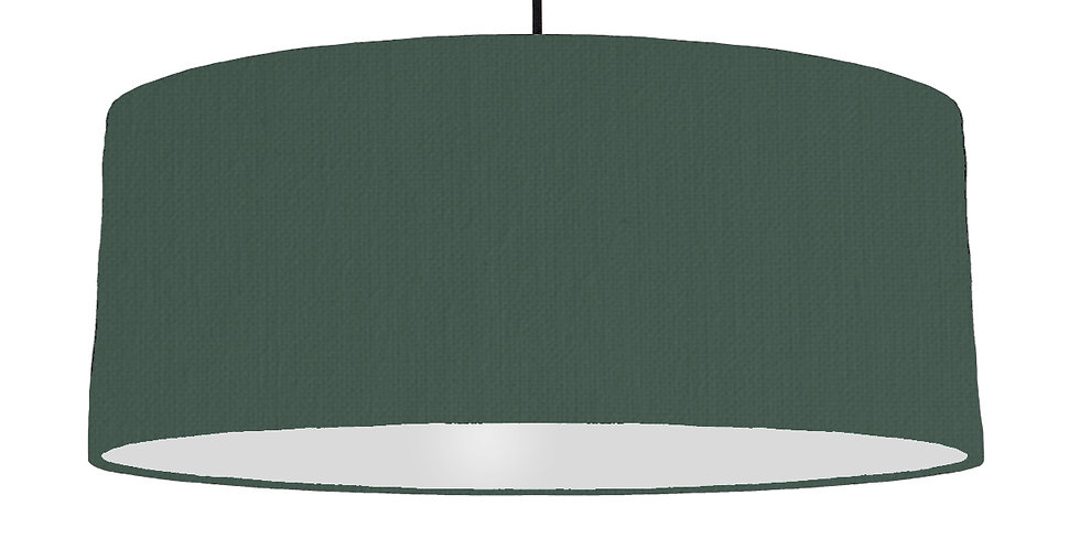 Bottle Green & Light Grey Lampshade - 70cm Wide