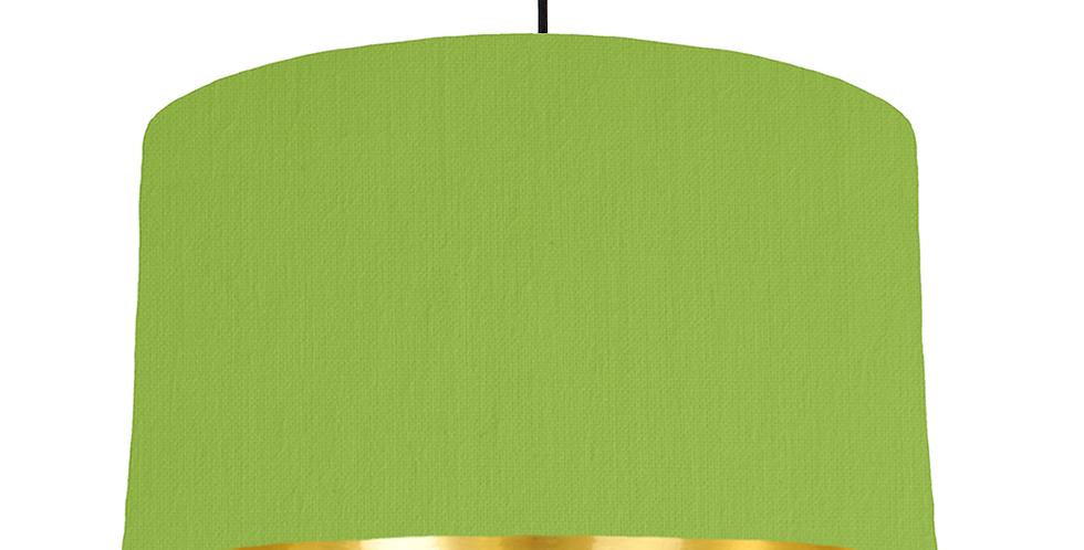 Pistachio & Gold Mirrored Lampshade - 50cm Wide