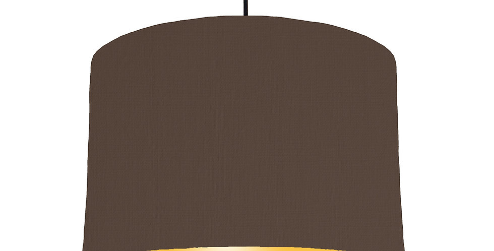 Brown & Butter Yellow Lampshade - 30cm Wide