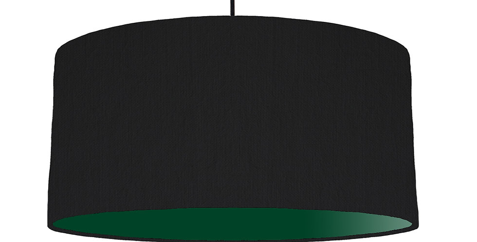 Black & Forest Green Lampshade - 60cm Wide