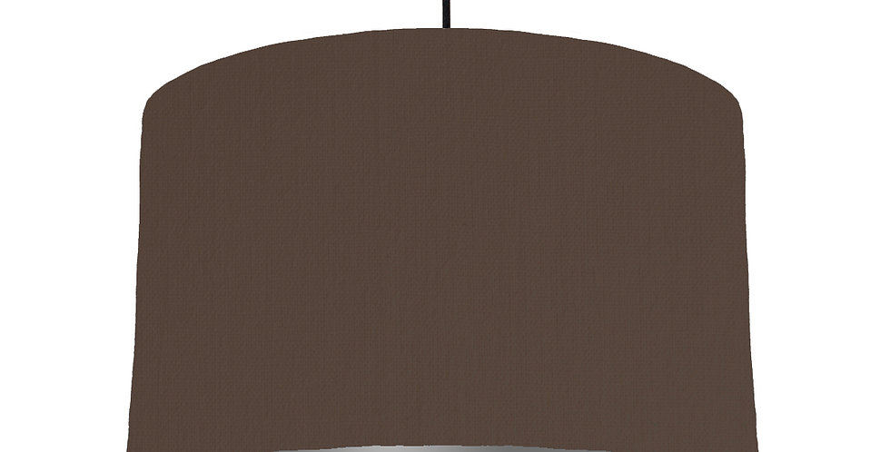 Brown & Dark Grey Lampshade - 40cm Wide