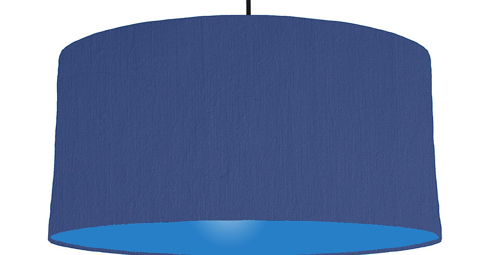 Royal Blue & Bright Blue Lampshade - 60cm Wide