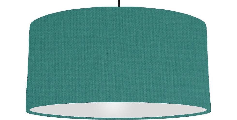 Jade & Light Grey Lampshade - 60cm Wide