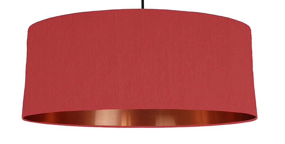 Red & Copper Mirrored Lampshade - 70cm Wide