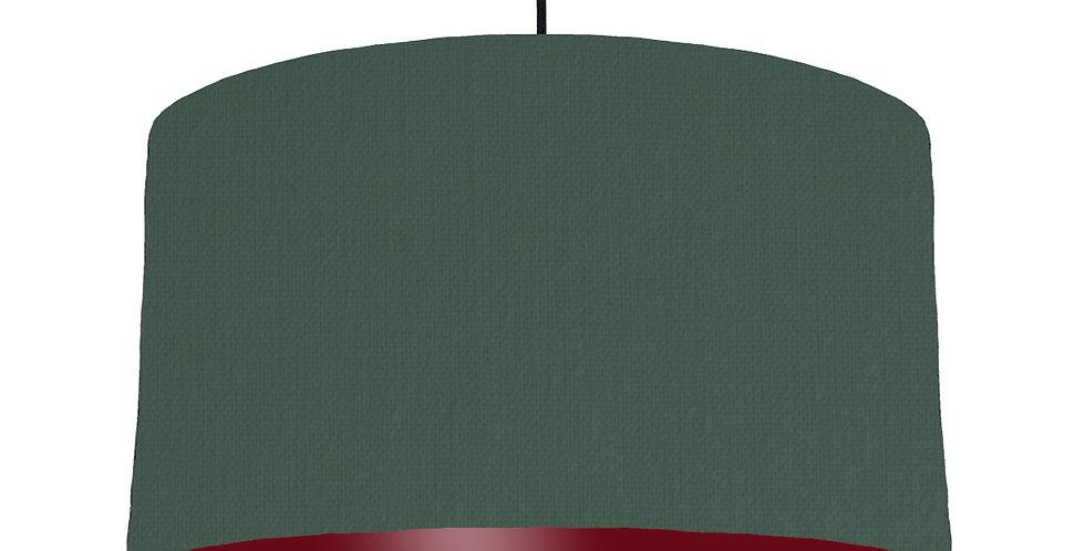 Bottle Green & Burgundy Lampshade - 50cm Wide