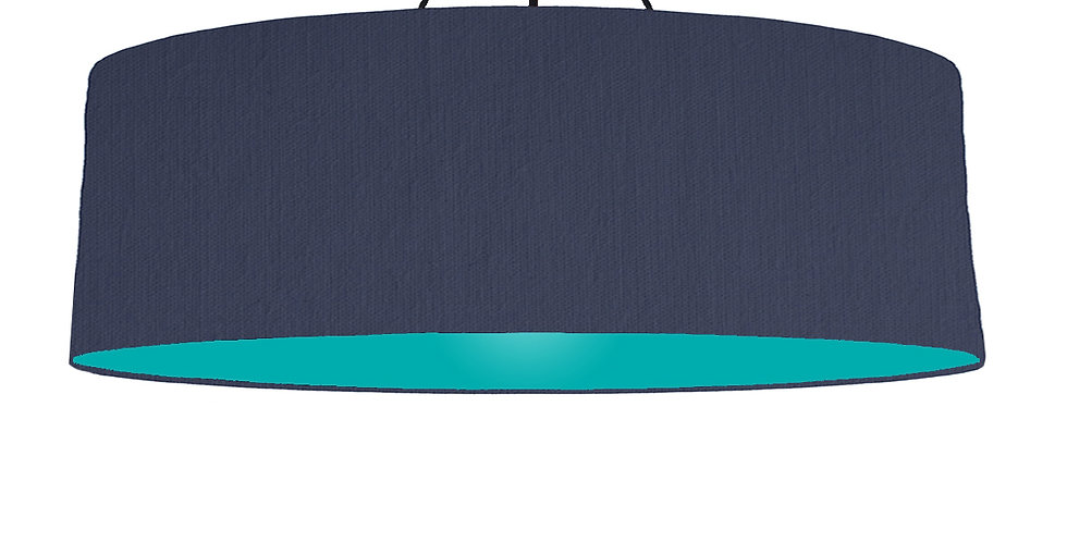 Navy Blue & Turquoise Lampshade- 100cm Wide