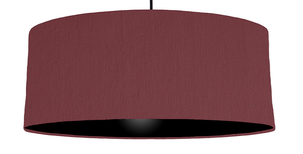 Wine Red & Black Lampshade - 70cm Wide