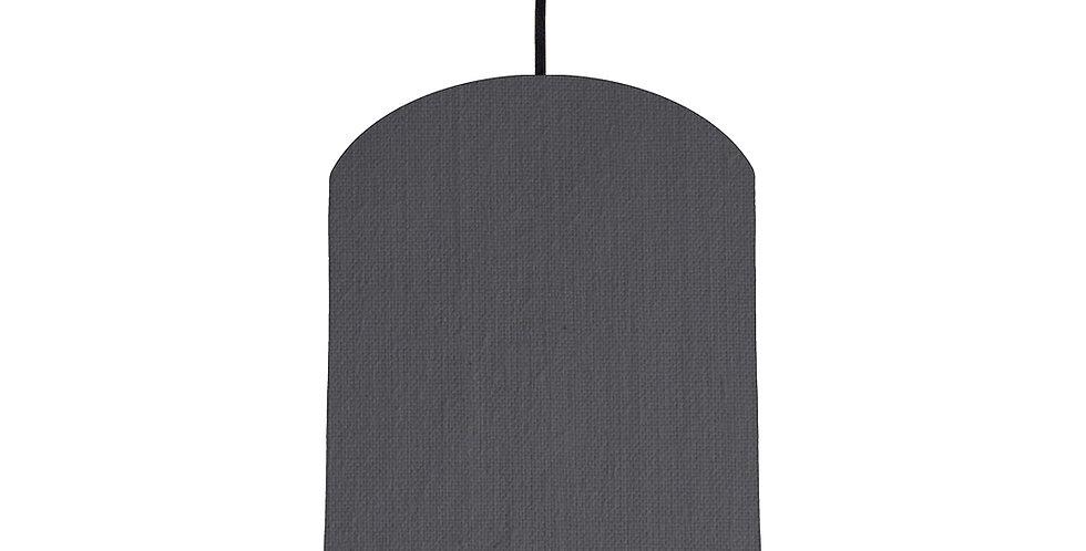 Dark Grey & Bright Blue Lampshade - 20cm Wide