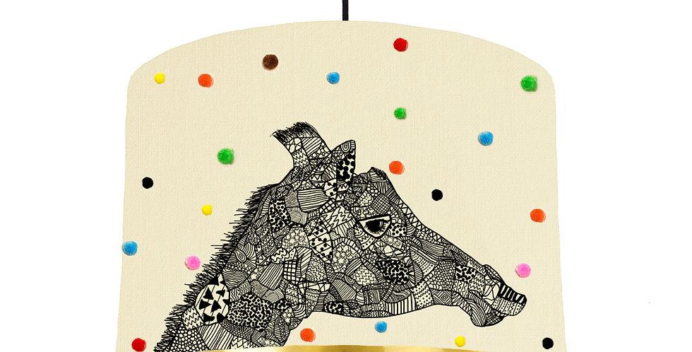 Giraffe Pom Pom Lampshade - Metallic Lining