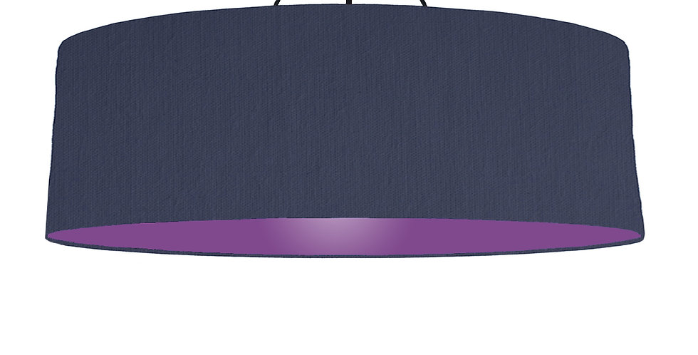 Navy Blue & Purple Lampshade - 100cm Wide