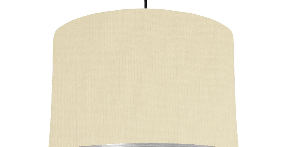 Natural & Brushed Silver Lampshade - 30cm Wide