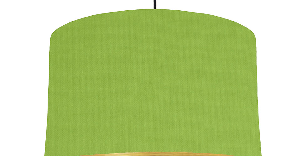 Pistachio & Brushed Gold Lampshade - 40cm Wide