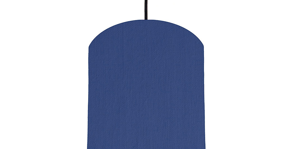 Royal Blue & Butter Yellow Lampshade - 20cm Wide