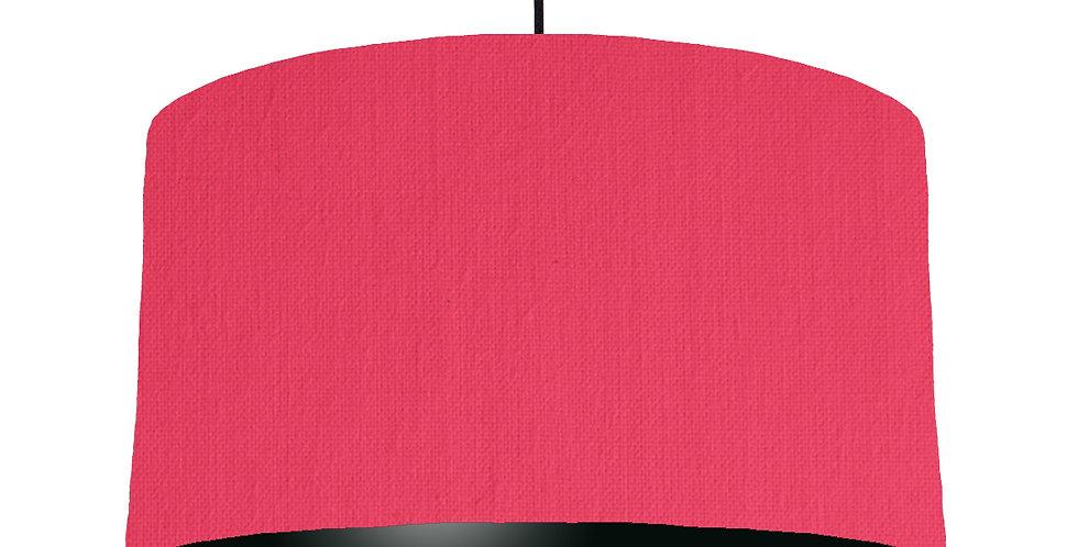Cerise & Black Lampshade - 50cm Wide