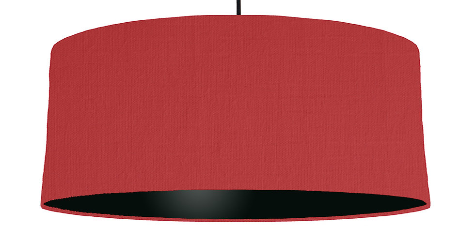 Red & Black Lampshade - 70cm Wide