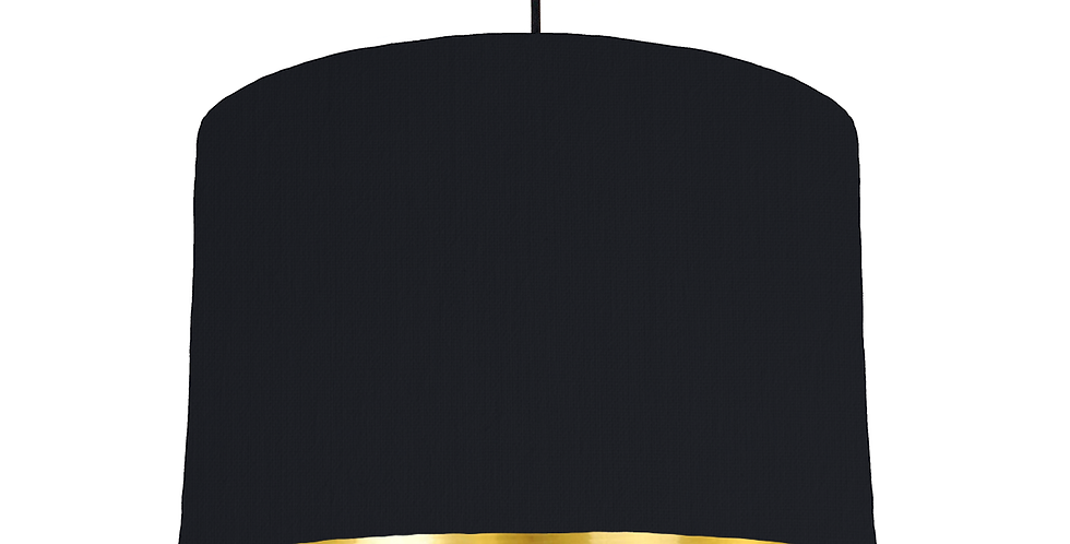 Black & Gold Mirrored Lampshade - 30cm Wide