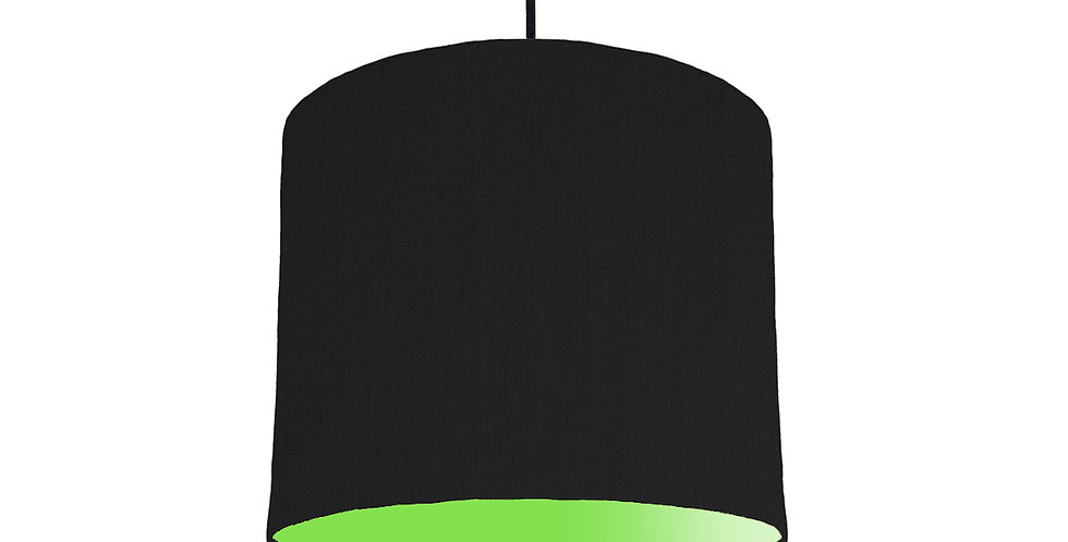 Black & Lime Green Lampshade - 25cm Wide