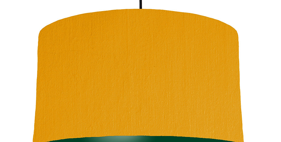 Mustard & Forest Green Lampshade - 50cm Wide