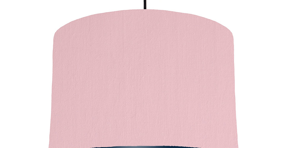 Pink & Navy Lampshade - 30cm Wide