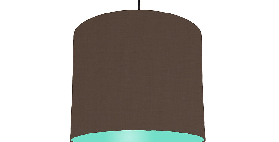 Brown & Mint Lampshade - 25cm Wide
