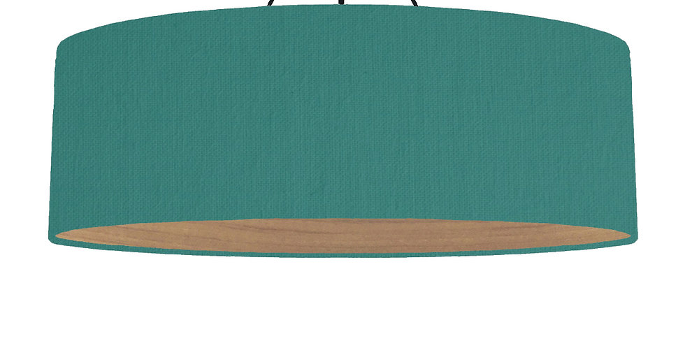 Jade Green & Wooden Lined Lampshade - 100cm Wide