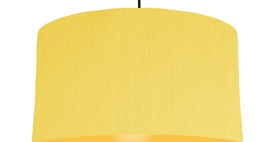 Lemon & Butter Yellow Lampshade - 50cm Wide