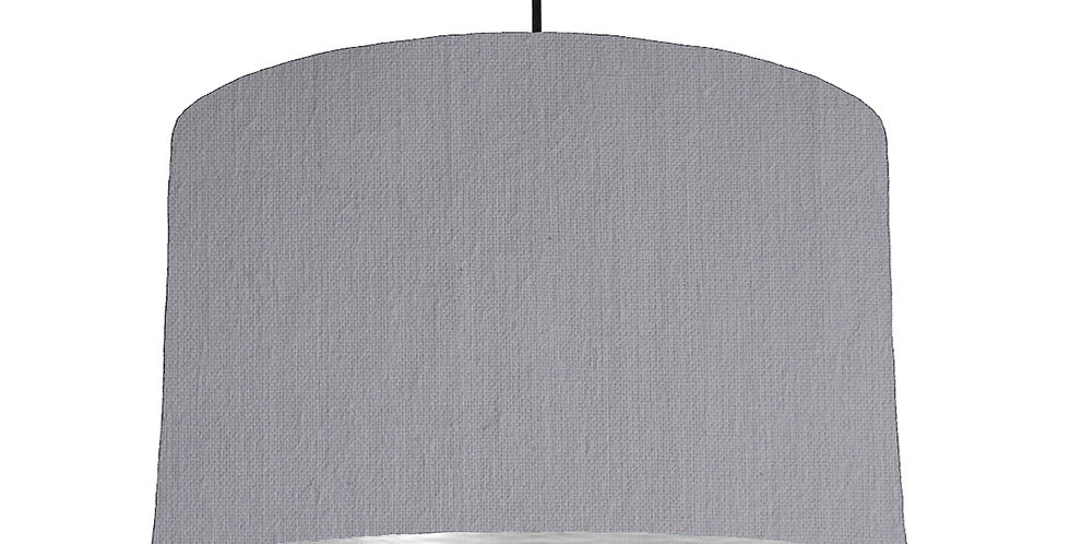 Light Grey & Brushed Silver Lampshade - 40cm Wide