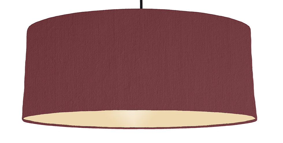 Wine Red & Ivory Lampshade - 70cm Wide