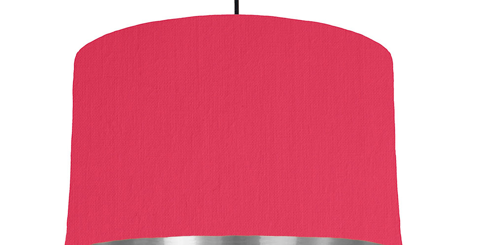 Cerise & Silver Mirrored Lampshade - 40cm Wide