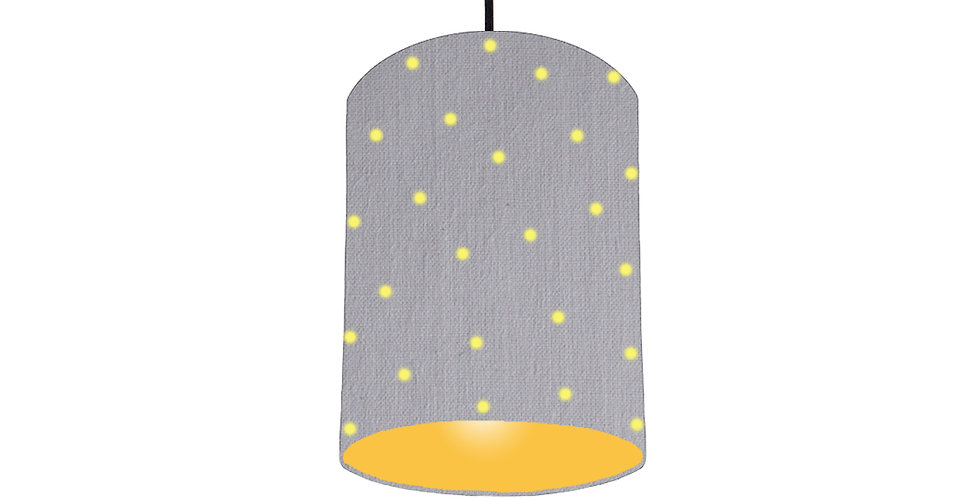 Pom Pom Lampshade With Colour Lining - 15cm Wide