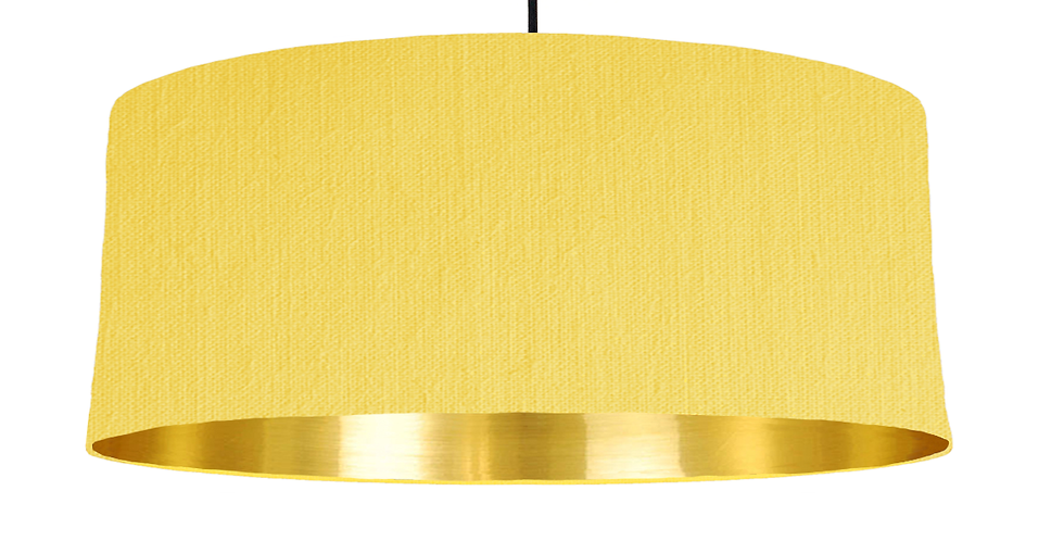Lemon & Gold Mirrored Lampshade - 70cm Wide