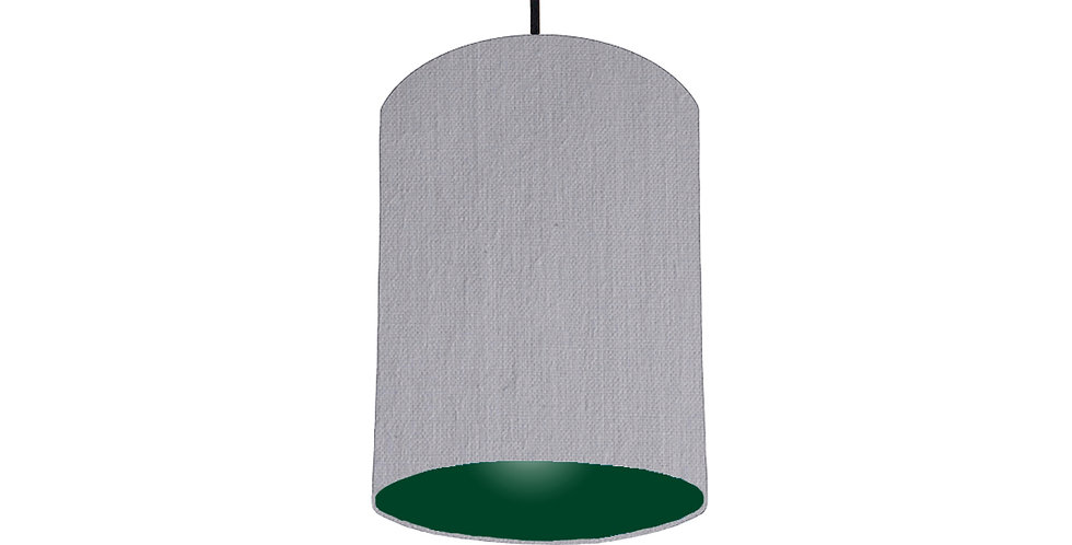 Light Grey & Forest Green Lampshade - 15cm Wide