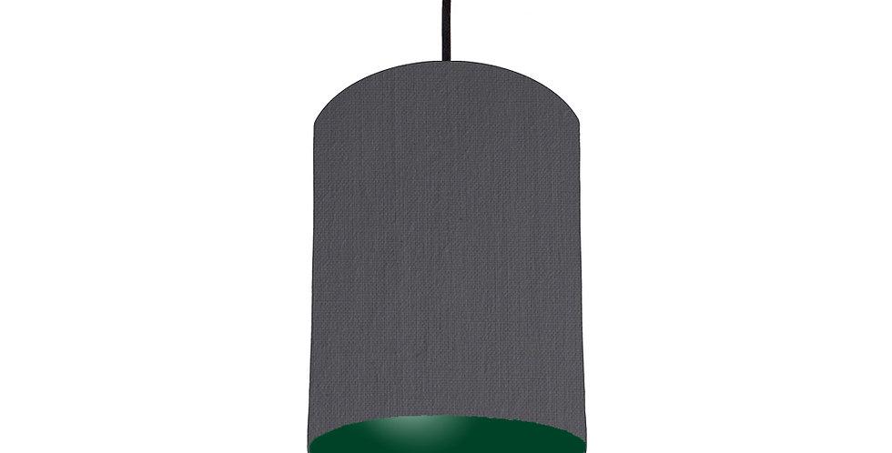 Dark Grey & Forest Green Lampshade - 15cm Wide