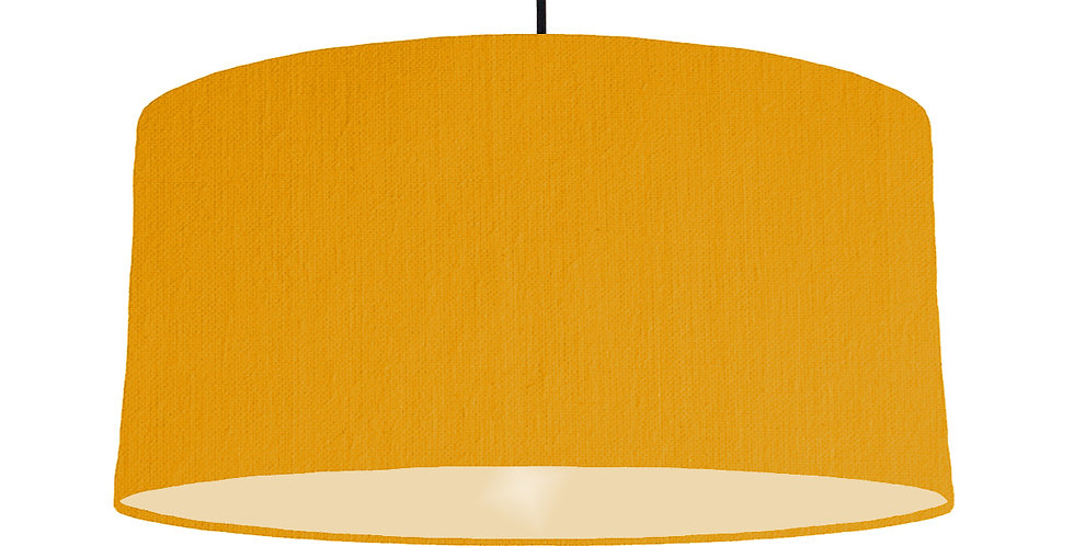 Mustard & Ivory Lampshade - 60cm Wide