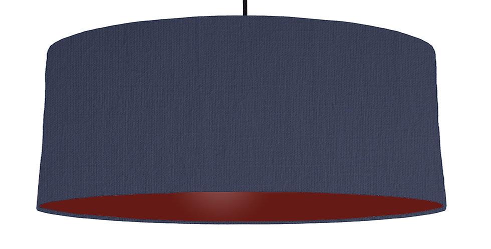 Navy Blue & Burgundy Lampshade - 70cm Wide